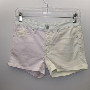 Gap Pastel Color Block Slim Denim Jean Shorts